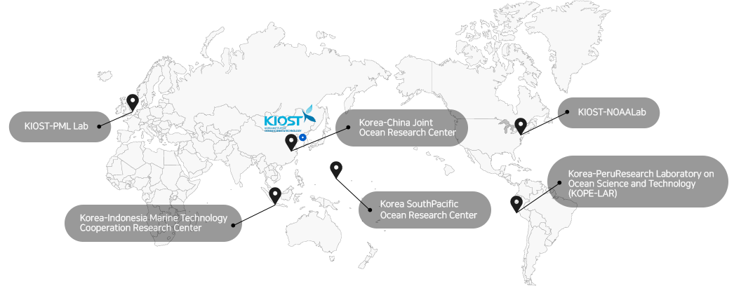 Korea-China Joint Ocean Research Center, KIOST–NOAA Lab, KIOST–PML Lab, Korea South Pacific Ocean Research Center, Korea-Peru Research Laboratory on Ocean Science and Technology (KOPE-LAR)